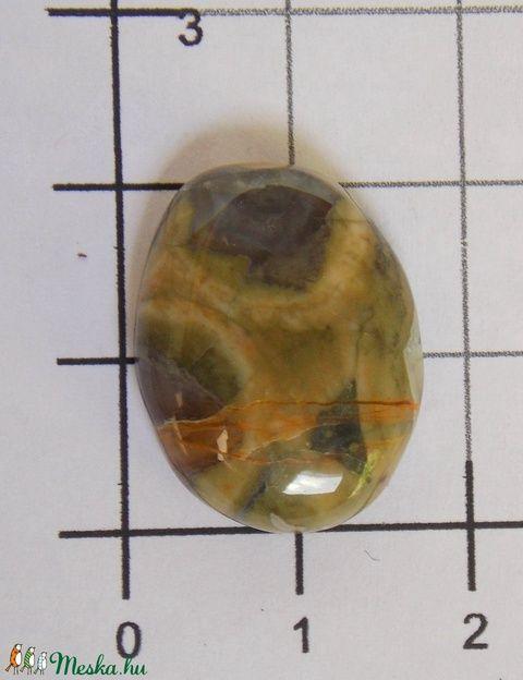 Rhyolit 1, Gyöngy, ékszerkellék, Cabochon, Ismét egy nagy kedvenc!        Méretek:    20mmX15mm   , Alkotók boltja  #rhyolit #ásványkő #gyöngyhímzés #befoglalás #gyöngyösékszer