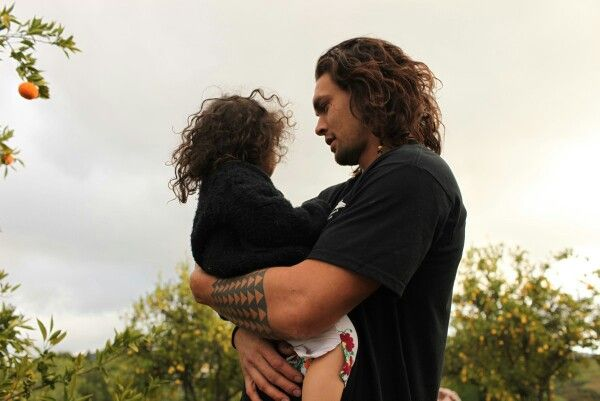 """""""Jason Momoa with his daughter Lola"""" Hot dads... are still hot.                                                                                                                                                                                 Plus"""