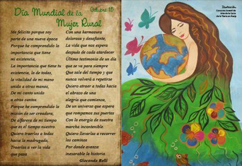 Gioconda Belli. Día de la Mujer rural.