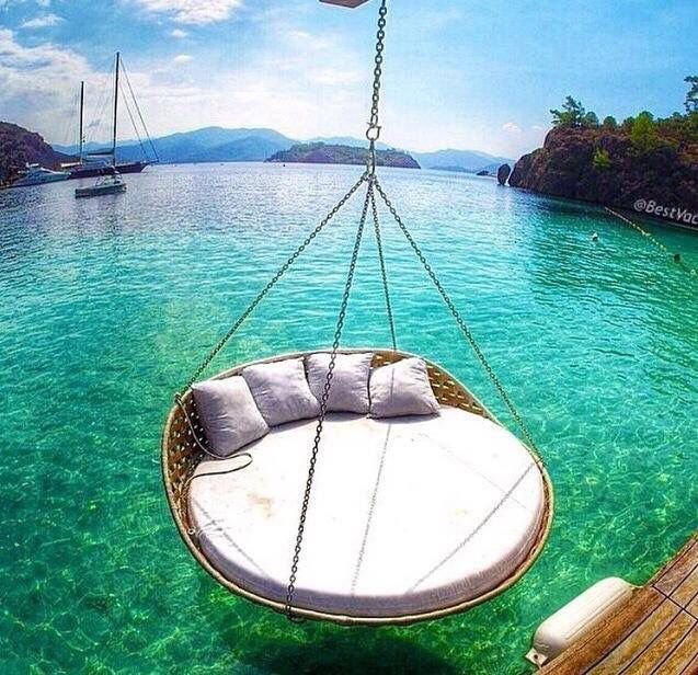 hammock circle swing over water summer it sizzles