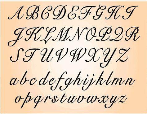 stencil letters template free | Script Font (Letter05A) Each letter 1.5inches (4cm) high