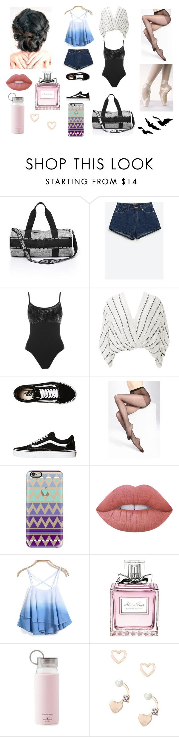"""Halsey - Colors"" by samanthadanetti on Polyvore featuring moda, MAYA, Zara, Free People, Vans, Casetify, Lime Crime, Christian Dior, Kate Spade y Lipsy"