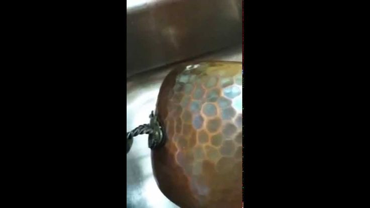Clean a copper pot with Norwex Blue Diamond cleaner -- fast, easy, safe (non-toxic - look, ma, no gloves!)