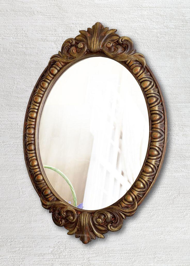 Овальное зеркало в раме «Веницианское» Золото Антик
