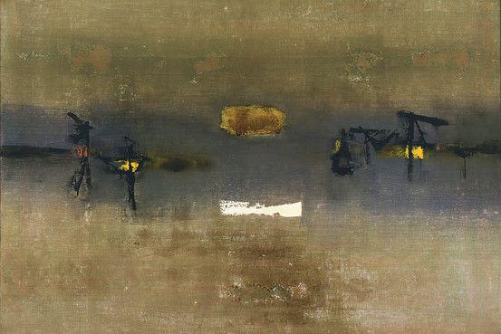 #GAITONDE PITTURA COME PROCESSO, PITTURA COME VITA. Alla Peggy Guggenheim di #Venezia . 40 dipinti e opere su carta provenienti da tutto il mondo si tratta della prima retrospettiva mai realizzata, dedicata a Vasudeo Santu Gaitonde.