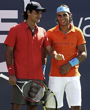 two of my faaavorite european athletes, Roger Federer and Rafael Nadal. this one's for you dustin haha @Casey Dalene Benac