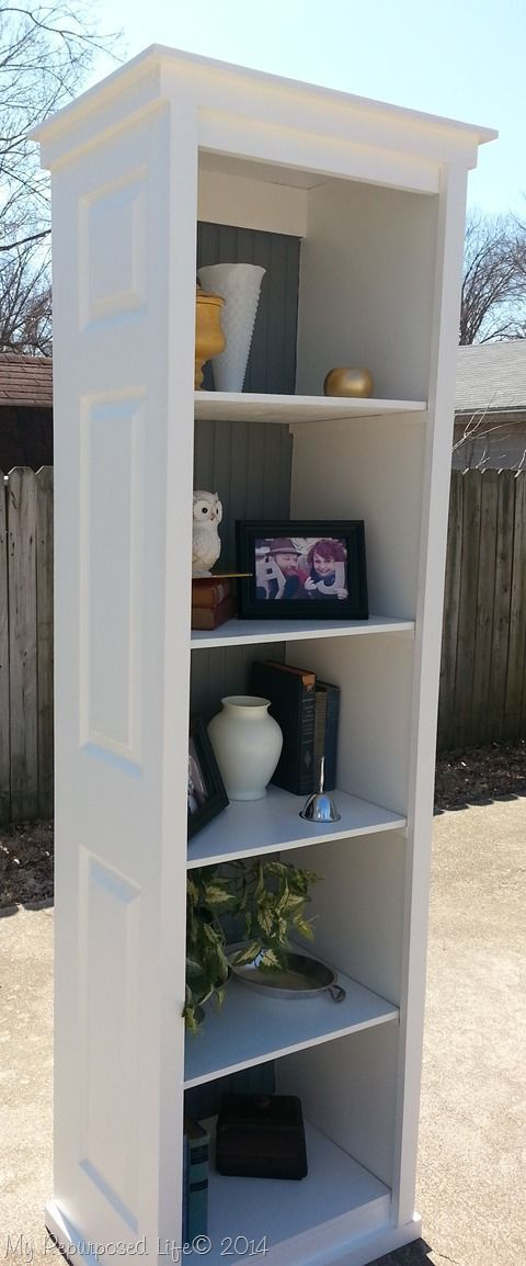 DIY: How to Build a Bookcase from Salvaged Bi-Fold Doors - excellent tutorial shows how recycled doors, plywood and beadboard were used to create this versatile bookcase - via My Repurposed Life