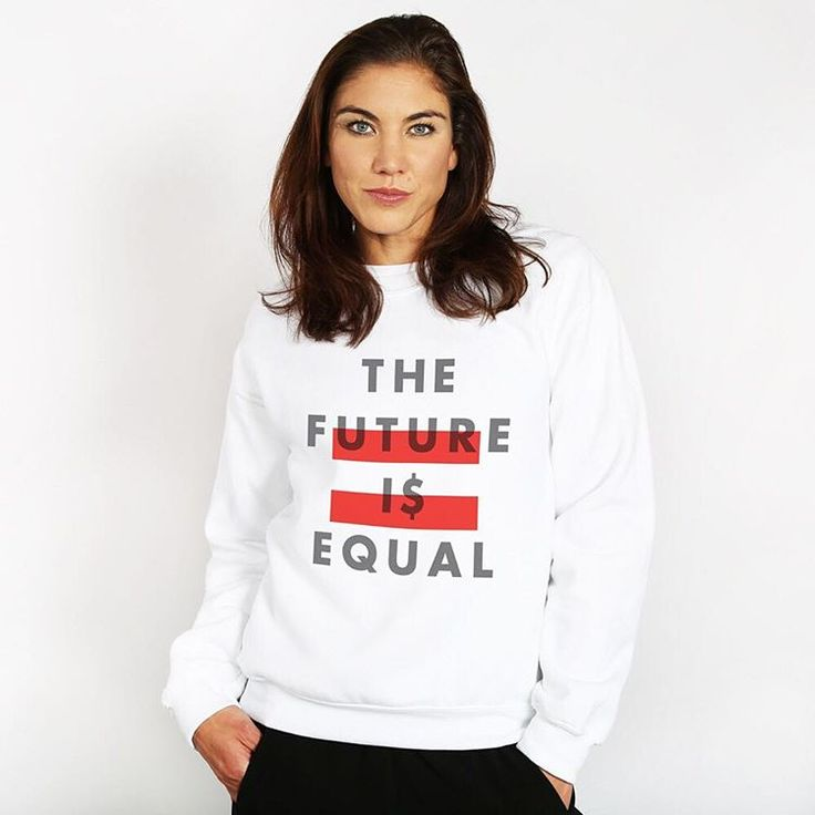 The Future I$ Equal. Women deserve equal pay. On average, women make 77% of what men make while performing the same job. Love seeing @hopesolo define what the future means to her through her work with @girlupcampaign.
