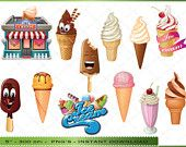 Ice Cream Clip Art -  Ice Creams Clipart Images - Instant Download