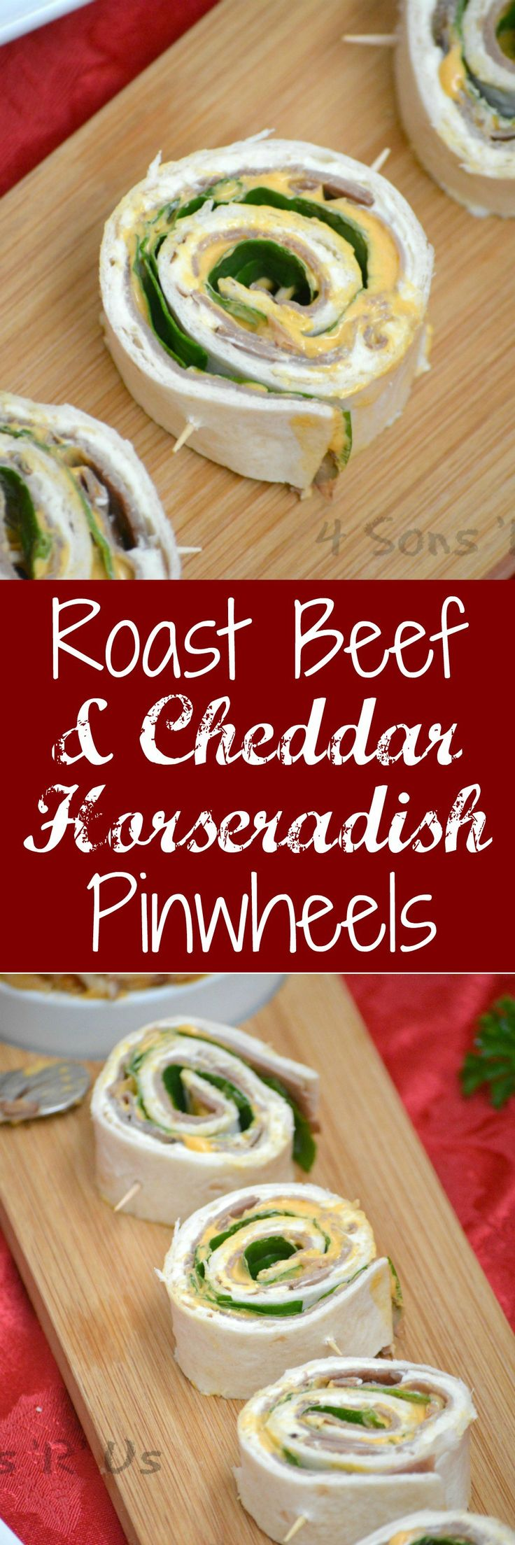 An easy appetizer that's perfect for stress free entertaining during the busy holiday season-- these Roast Beef & Cheddar Horseradish Pinwheels are a recipe you'll want to have on hand. #InspireWithCheese #ad