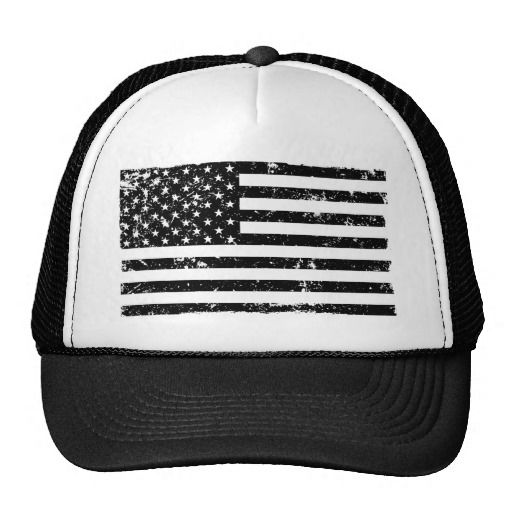 Distressed American Flag II Trucker Hat
