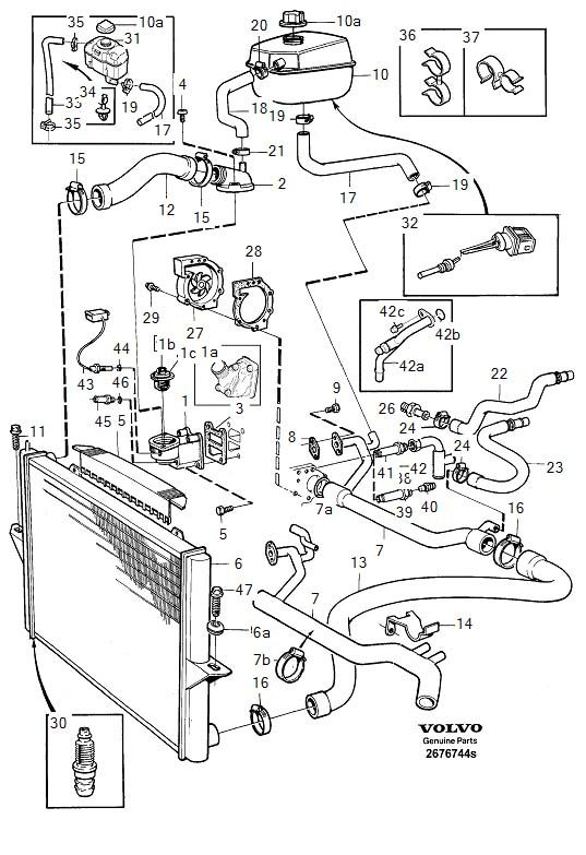 Radiator on 2001 Volvo S80 Engine Diagram