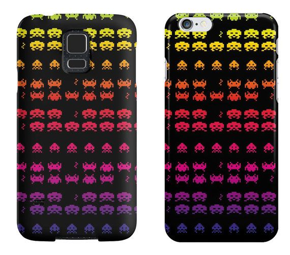 Space Invederz  iPhone / Samsung Galaxy Case di DeathsAmoreCloth