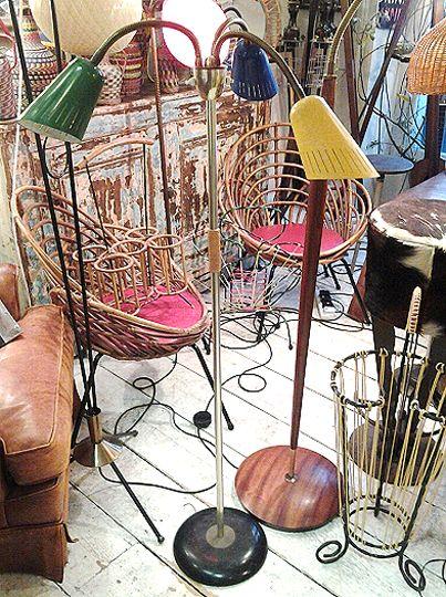 1950s Colourful 3 Shade Lamp