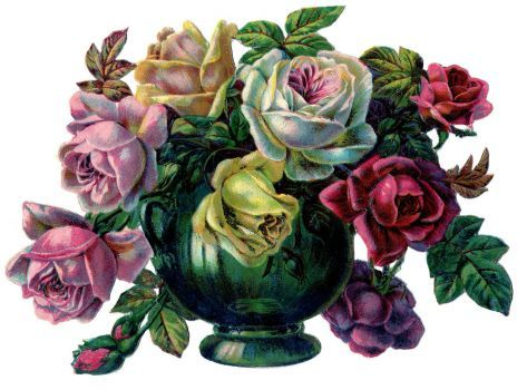 Roses in a vase in a house