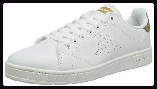Kappa Damen Court Glory Sneaker, Weiß (White/Gold), 36 EU - Sneakers für frauen (*Partner-Link)