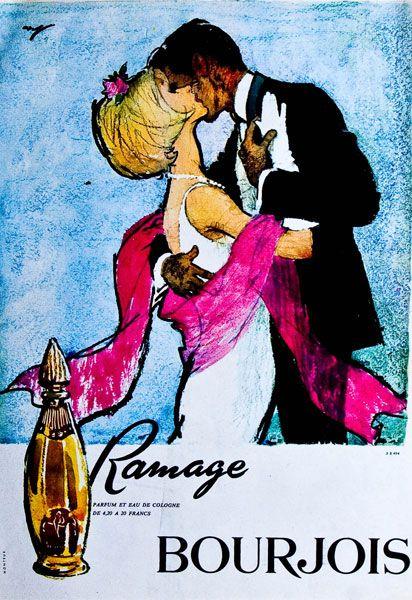 Publicité du parfum Ramage de Bourjois