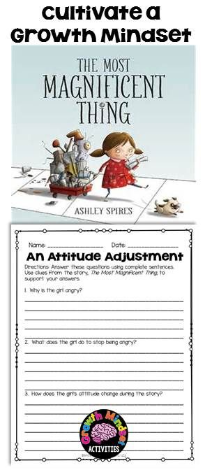 The Most Magnificent Thing by Ashley Spires no prep printables (GROWTH MINDSET)