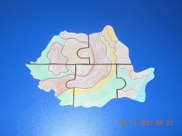 harta tarii sablon puzzle