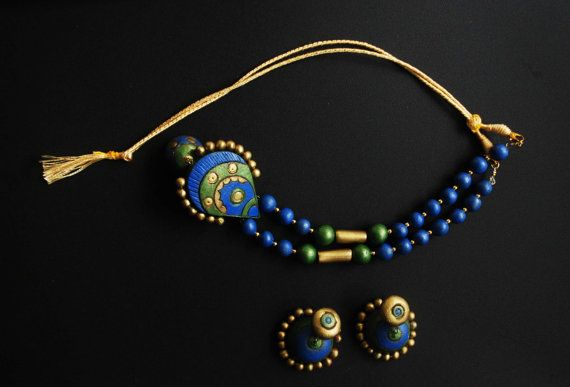 Terracotta Jewellery by JellyPearls on Etsy, $65.00