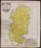 map of Sardinia, 1734