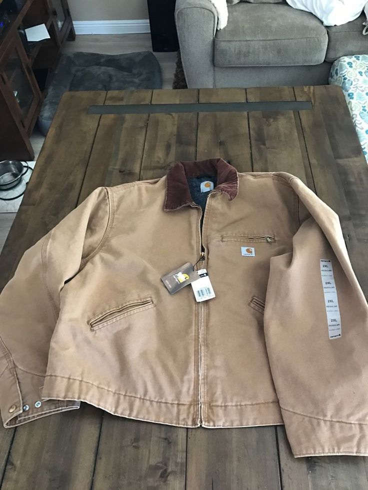 CARHARTT J001 BRN DUCK DETROIT JACKET BLANKET-LINED COTTON DUCK SIZE 2XL NWT  | eBay