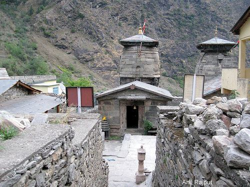 Lord Badri Vishal is worshiped at Pandukeshwar  during the winters, this place is 18 kms from Joshimath and very close to Govind Ghat. Pandukashwer is also associated with King Pandu father of Five Pandavas of Mahabharata  After the curse from a Sage, ( Rishi) Kindama, mistakenly killed by King Pandu, spent his life here and his queens Kunti and Madri gave birth to the five Pandva brothers, Namely Yudhishthir, Arjun, Bheem, Nakul and Sahdev (in order of their ages, elder first).  Yudhishthir