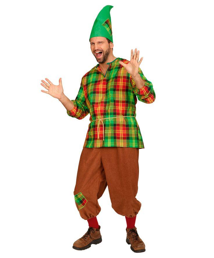 Костюм гнома для взрослого: брюки, рубашка, колпак (Германия)