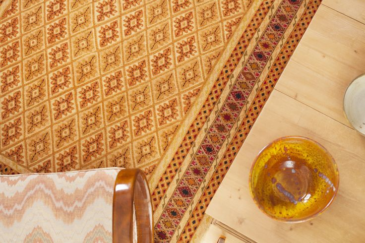 The Mushwani have a certain three-dimensional look about them due to the raised pile weave among kilim knots. And it is also what makes so pleasant to walk on them. Decorative patterns and soft colors look nice displayed on wooden floor or hanging on the wall. More at: http://www.maimana.cz/en/product/narangi/