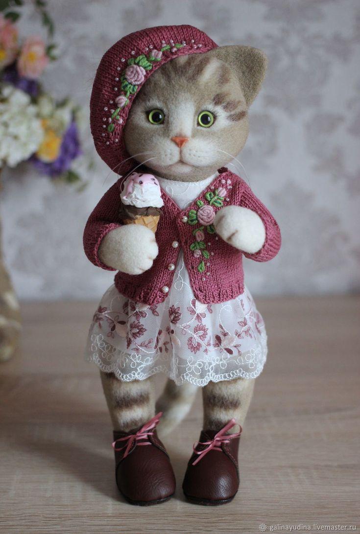 Felted toy Kitty | Купить Карамелька) в интернет магазине на Ярмарке Мастеров