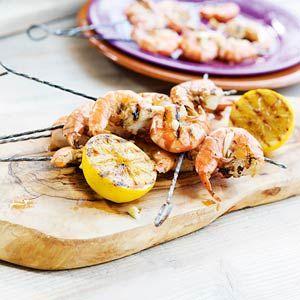 Een lekker recept voor op de BBQ, Gamba's met citroen van de Allerhande #BBQ #recept #zomereten