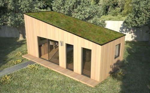 Chalet De Jardin Avec Mezzanine Et Toit En Pente Sofia 35 M2 Avec Images Chalet De Jardin Studio De Jardin Plan Maison Bois