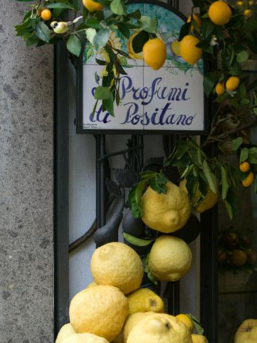 Lemons, Positano, Amalfi Coast, Campania, Italy Photographic Print
