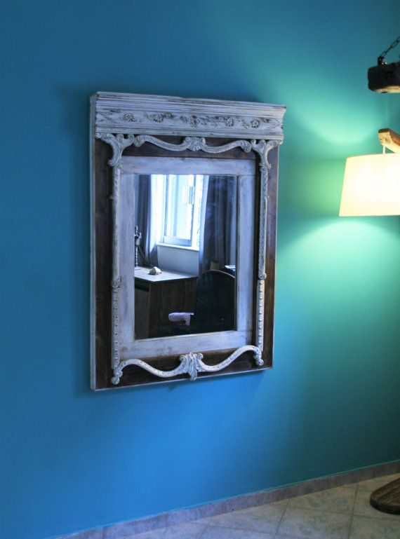Unique handmade mirror from reclaimed wood, only one piece(SAVE A TREE LINE).