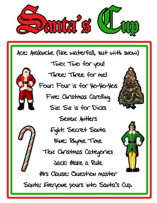 santa's cup rules