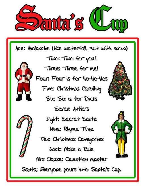 santa's cup rules