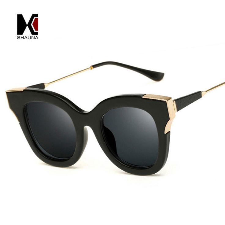 $5.48 (Buy here: https://alitems.com/g/1e8d114494ebda23ff8b16525dc3e8/?i=5&ulp=https%3A%2F%2Fwww.aliexpress.com%2Fitem%2FSHAUNA-Popular-Summer-Styles-Women-Cat-Eye-Sunglasses-Brand-Designer-Fashion-Men-Black-Frame-Eyewear-UV400%2F32792748605.html ) SHAUNA Popular Summer Styles Women Cat Eye Sunglasses Brand Designer Fashion Men Black Frame Eyewear UV400 for just $5.48