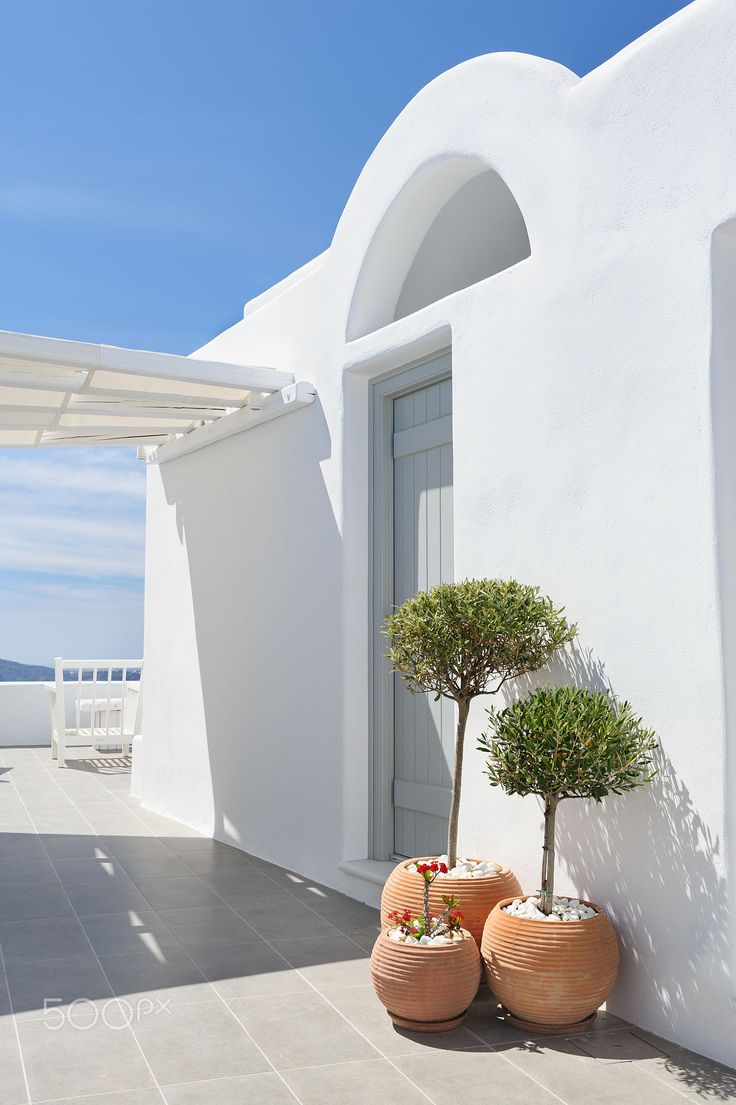 Patio in Oia, Santorini, Greece