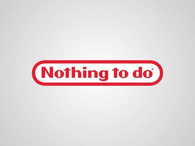 I thought I'd post my previous series of #honestlogos from 2011 - #2 Nothing to do. #adbusting #parody #logo #satire #graphicdesign #viktorhertz #nintendo #gaming #videogames
