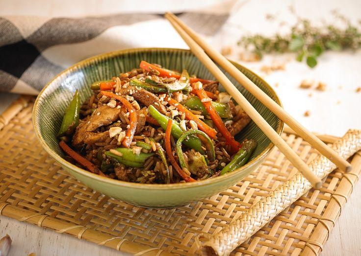 Sarteneado de pollo y arroz - Maru Botana