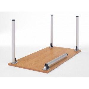Mesa modular de pata redonda plegable.                                                                                                                                                     Más