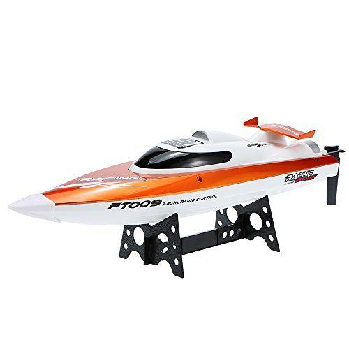 Goolsky FT009 Barco de Carreras RC 2.4G 30km / h Alta Celocidad Enfriamiento de Agua Auto-Enderezado Sistema