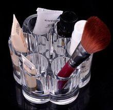 Crystal Maquillaje Cosmético del Caso Del Almacenaje de contenedores Contenedor Caja/Baño Organizador/Joyería Organizador Caja de Maquillaje Acrílico Caja de La Pluma(China (Mainland))