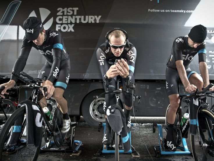 Warming up for the Tour of Britain stage 3 ITT