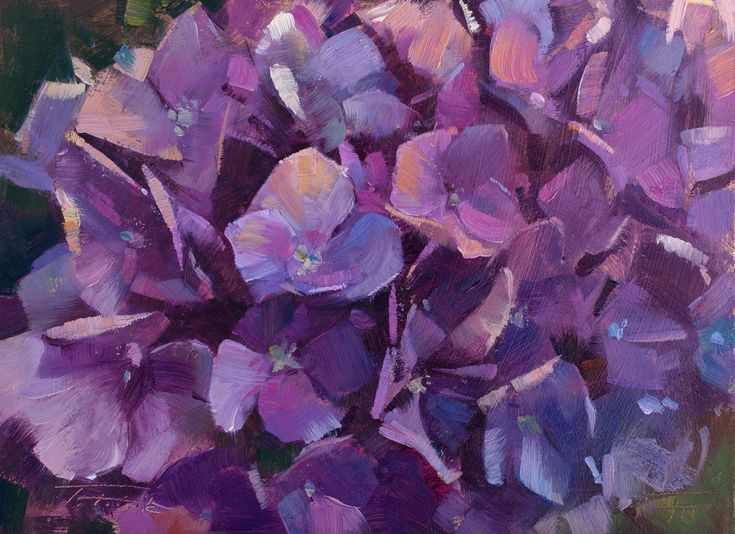 "I did a second painting of the purple hydrangeas in Easton, ""Purple Medley"" (oil on panel, 6""x8""), for the 2017 Laguna Beach Plein Air Painting Invitational's Plein Talk with Mr. Jean Stern and Small Works Auction at Tivoli Too on October 11th. #patricksaunders #patricksaundersfineart #patricksaundersfinearts #patsaunders #pleinairstreaming #saundersfinearts #lpapa #lpapasmallworksauction  #california #pleinairpainting #pleinairpainter #floralpainting #purplehydrangeas #oilpainting"