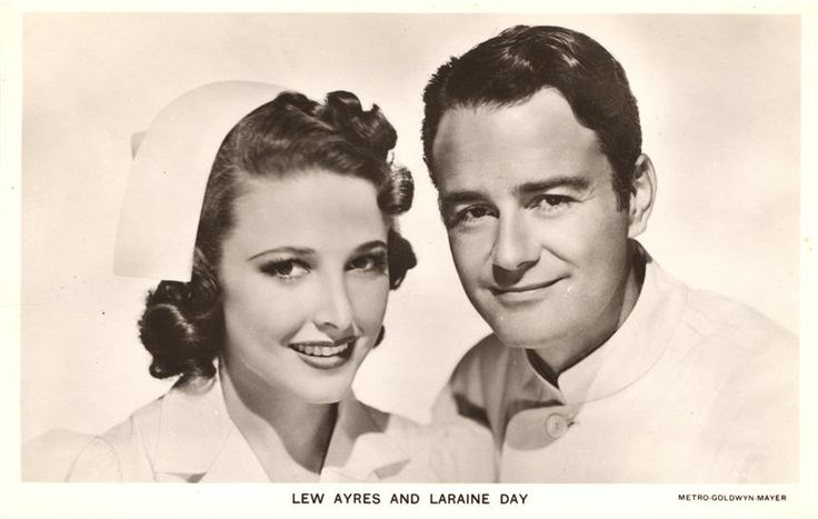 Laraine Day and Lew Ayers portrayed the lead nurse and doctor on the popular Dr. Kildare series, ca. 1940. Pictures of Nursing: The Zwerdling Postcard Collection. National Library of Medicine