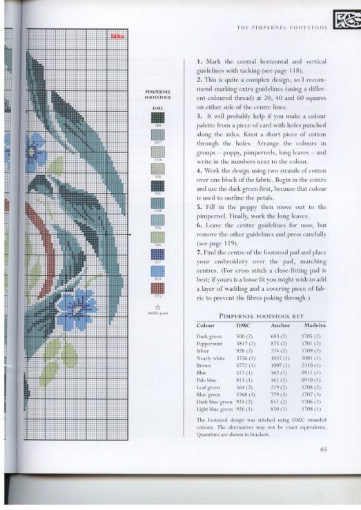 Gallery.ru / Фото #53 - The art of William Morris in cross stitch (Barbara Hammet) - vihrova