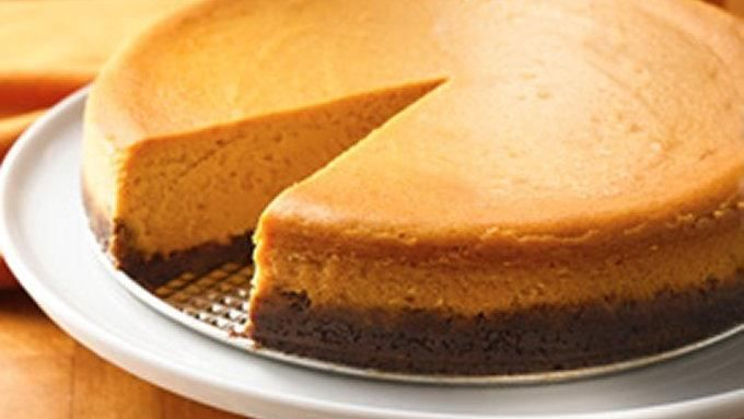 Pumpkin...gingersnaps...caramel. Fabulous flavors of fall are featured in an irresistible cheesecake. 16 servings