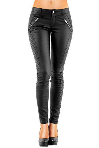DANAEST Damen Kunstlederhose Bootcut (163), Skinny Style, Größe: 38 M, Farbe: Schwarz   http://www.damenfashion.net/shop/danaest-damen-kunstlederhose-bootcut-163-skinny-style-groesse-38-m-farbe-schwarz/