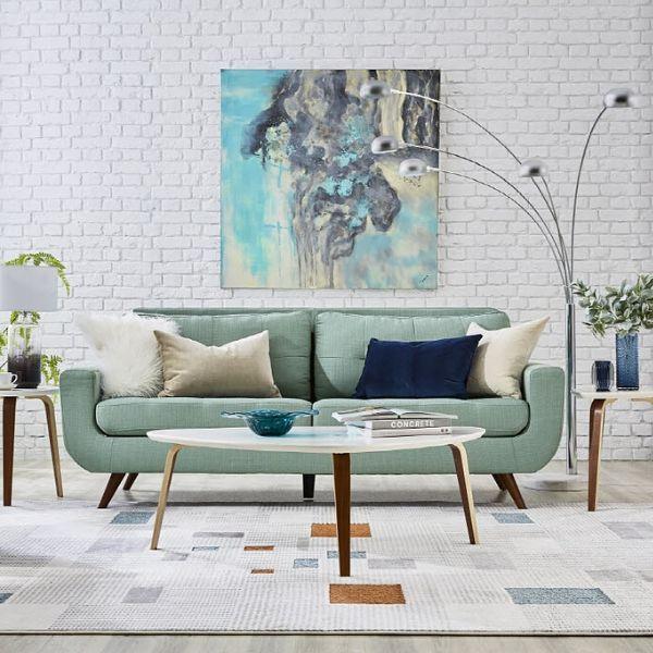 Julian Sofa Teal Mid Century Modern